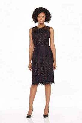 Maggy London Women's Etched Floral Lace Novelty Sheath