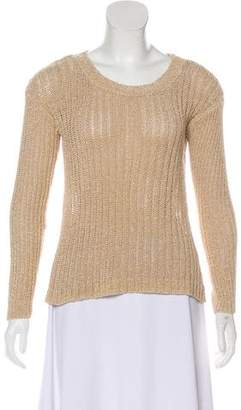 Alice + Olivia Crew Neck Rib Knit Sweater