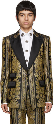 Dolce & Gabbana Gold Evening Blazer