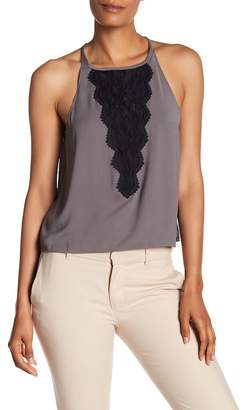 Ramy Brook Mona Front Crochet Knit Trim Tank Top