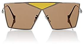 Loewe Women's Puzzle Large Sunglasses - Shiny Light Ruthenium And Brown Lenses