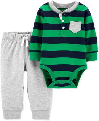Carter's Carter Baby Boys 2-Pc. Cotton Bodysuit & Jogger Pants Set
