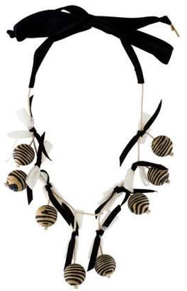 Lele Sadoughi Wooden Collector Necklace Gold Wooden Collector Necklace