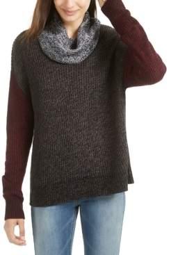 BCX Juniors' Colorblocked Cowl-Neck Sweater