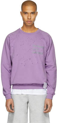 Satisfy Purple Cult Moth Eaten Sweatshirt