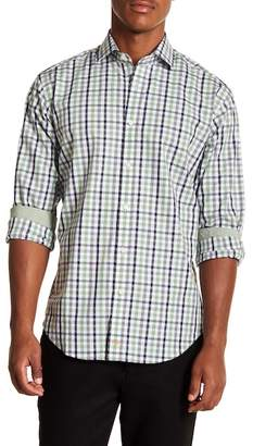 Thomas Dean Shadow Checkered Long Sleeve Sport Fit Shirt