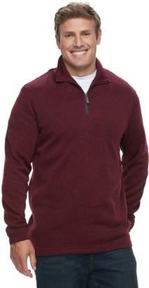 Haggar Big & Tall Marled Sweater Fleece Quarter-Zip Pullover