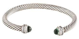 David Yurman Prasiolite & Diamond Cable Classics Bracelet