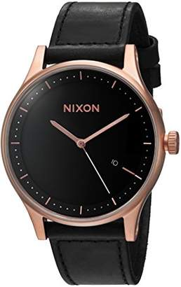Nixon Men's 'Station Leather' Quartz Stainless Steel Casual Watch