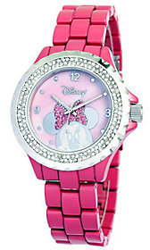 Disney Women's Minnie Pink Enamel Watch $69.99 thestylecure.com
