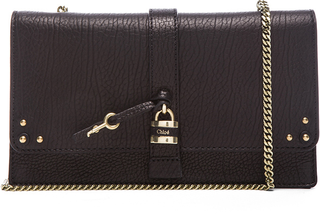Chloé Aurore Wallet with Chain in Black