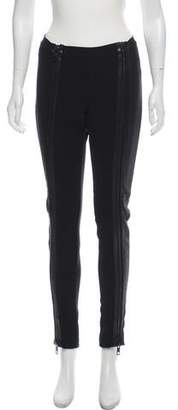 Burberry Leather Trim Skinny Pants