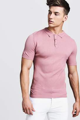 Regular Short Sleeve Knitted Polo