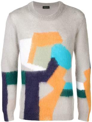Roberto Collina geometric pattern jumper