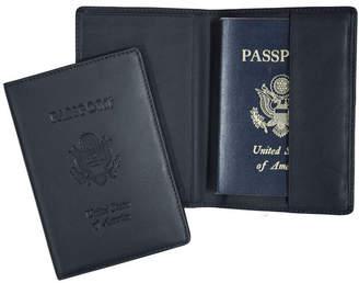 Royce Leather Royce New York Passport Seal Embossed Rfid Blocking Passport Case