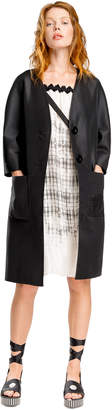 Max Studio textured jacquard coat