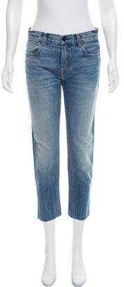 Alexander Wang Mid-Rise Cropped Jeans