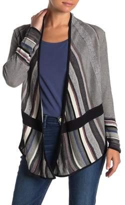 Nic+Zoe Mirror Image Striped Cardigan (Petite)