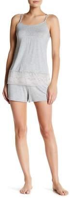 Felina 2-Piece Lace Trimmed Shortie Set