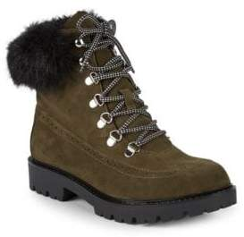 Charles David Ramses Faux Fur Hiking Boots