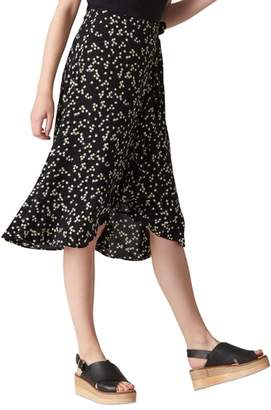 Whistles Print Frill Wrap Skirt