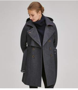 Andrew Marc Rae Double Breasted Wool Coat
