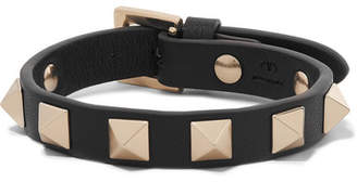 Valentino Garavani The Rockstud Leather Bracelet - Black