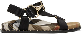 Burberry Black House Check Ardall Sandals $595 thestylecure.com