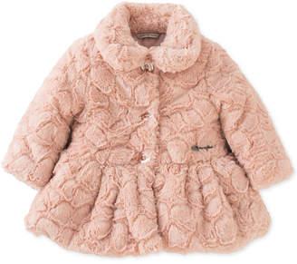 Calvin Klein Baby Girls Crackled Faux-Fur Coat