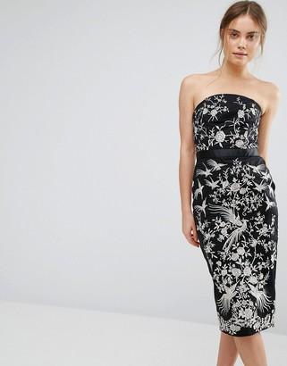 Oasis Osaka Embroidered Bandeau Dress $166 thestylecure.com