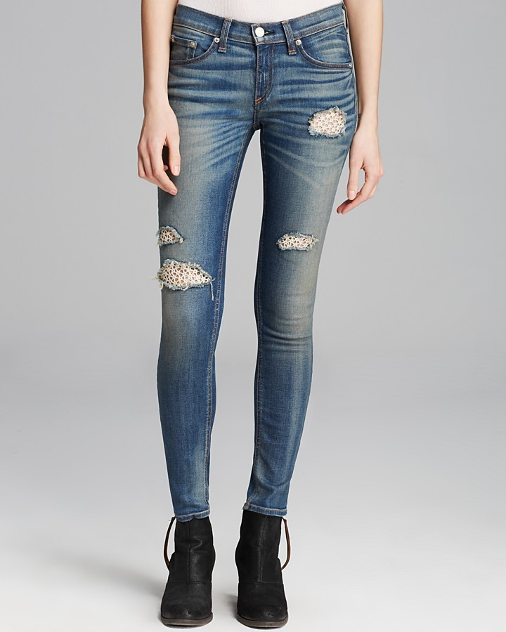 Rag and Bone Jeans - The Skinny in Crochet Lace