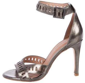 Joie Metallic Leather Sandals