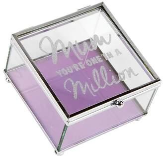 WM. Widdop Mum In A Million Glass Trinket Box