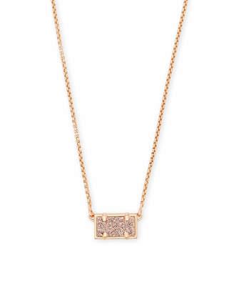 Kendra Scott Pattie Pendant Necklace In Rose Gold