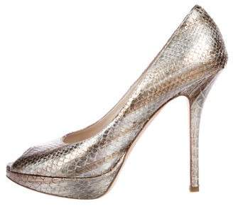 Christian Dior Miss Metallic Pumps