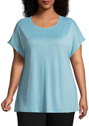 WORTHINGTON Worthington Short Dolman Sleeve T-Shirt - Plus