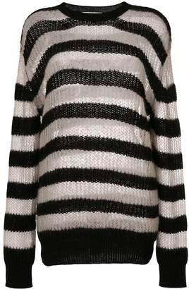 McQ striped roll neck jumper