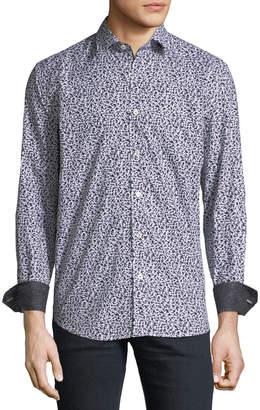 Bugatchi Classic-Fit Long-Sleeve Spots Sport Shirt