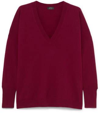 J.Crew Rosayln Cashmere Sweater - Burgundy