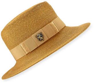 Philip Treacy Raiders Fine Sewn Braid Trilby Hat