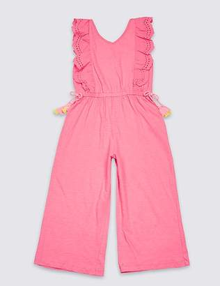 Marks and Spencer Frill Pure Cotton Jumpsuit (3-16 Years)