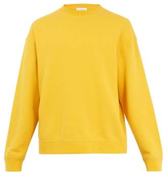 Raey - Crew Neck Japanese Jersey Sweatshirt - Mens - Yellow