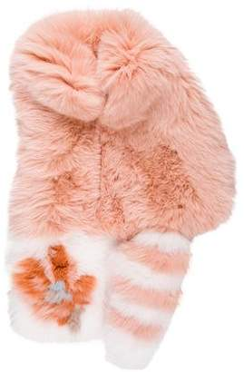 Fendi Multicolor Fox Fur Stole