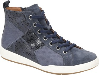 Comfortiva Patchwork Hightop Sneakers - Lupine