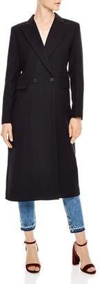 Sandro Geranium Double-Breasted Coat