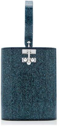 Edie Parker Oval Glittery Acrylic Bag
