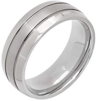 Unbranded Men's Titanium Grooved Dome Wedding Band - Mens Ring