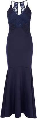 6e277993e5a24 Next Lipsy Abbey Clancy x Petite Applique Artwork Fishtail Hem Maxi Dress -  10
