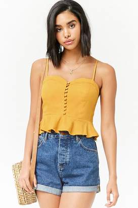 Forever 21 Button-Front Cropped Cami