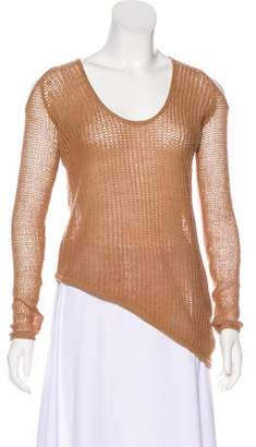 Helmut Lang Wool Cold-Shoulder Top w/ Tags